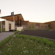 Rendering of Community Center Entry.